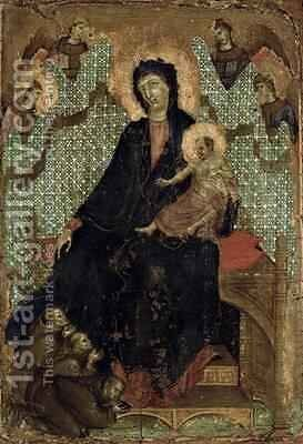 Virgin of the Franciscans by Buoninsegna Duccio di - Reproduction Oil Painting