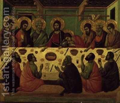 The Last Supper from the Passion Altarpiece by Buoninsegna Duccio di - Reproduction Oil Painting
