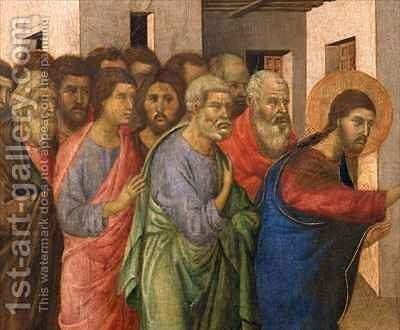Jesus Opens the Eyes of a Man Born Blind 3 by Buoninsegna Duccio di - Reproduction Oil Painting
