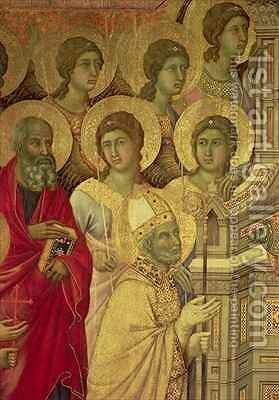 Maesta Saints by Buoninsegna Duccio di - Reproduction Oil Painting