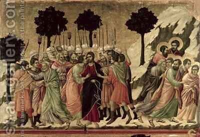 Maesta Betrayal of Christ by Buoninsegna Duccio di - Reproduction Oil Painting