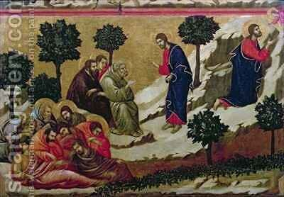 Maesta Agony in the Garden of Gethsemane by Buoninsegna Duccio di - Reproduction Oil Painting