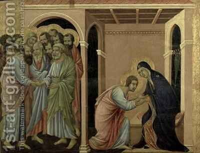Maesta The Virgin Says Farewell to St John by Buoninsegna Duccio di - Reproduction Oil Painting