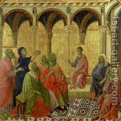 Maesta Christ Among the Doctors by Buoninsegna Duccio di - Reproduction Oil Painting