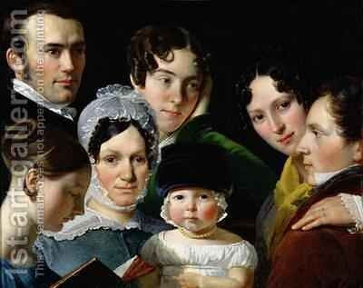 The Dubufe Family in 1820 by Claude-Marie Dubufe - Reproduction Oil Painting