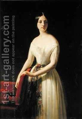 Eugenie Saint Amand by Claude-Marie Dubufe - Reproduction Oil Painting