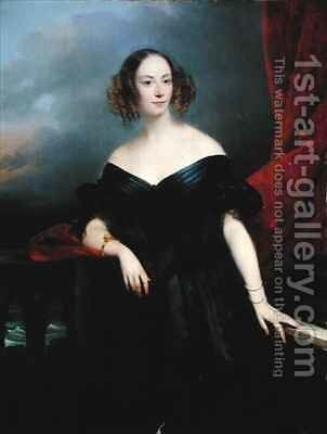 Madame Rampal Comtesse de Grigneuseville by Claude-Marie Dubufe - Reproduction Oil Painting