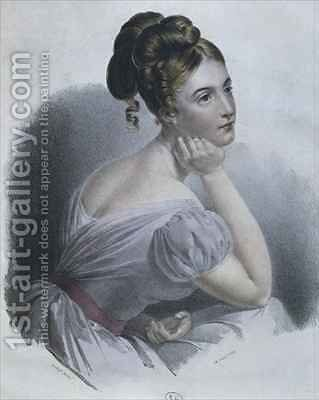 Daydreaming by Claude-Marie Dubufe - Reproduction Oil Painting