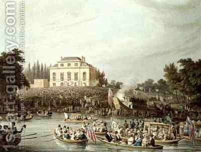 Arrival of the Watermen at Brandenburgh House by Matthew Dubourg - Reproduction Oil Painting
