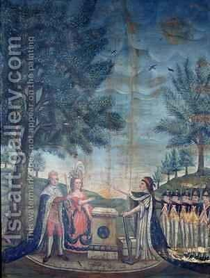 Oath of the King the Queen the Nation and the National Guard at the Festival of the Federation by Dubois - Reproduction Oil Painting