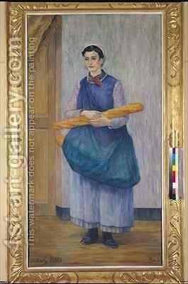 Lady Carrying Bread by Albert Dubois-Pillet - Reproduction Oil Painting
