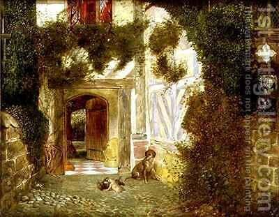 Ancient Archway at Speke Hall Liverpool by James Drummond - Reproduction Oil Painting