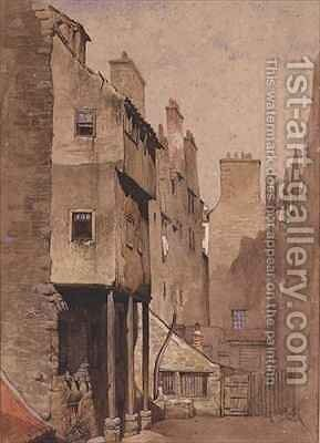 Whisky Row Edinburgh by James Drummond - Reproduction Oil Painting
