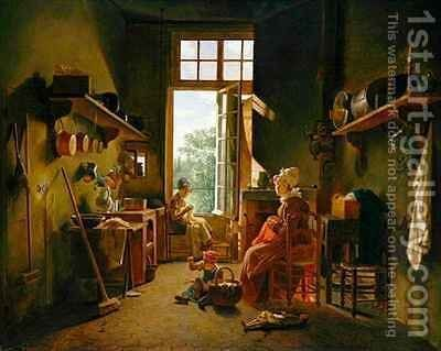 Kitchen Interior by Martin Drolling - Reproduction Oil Painting