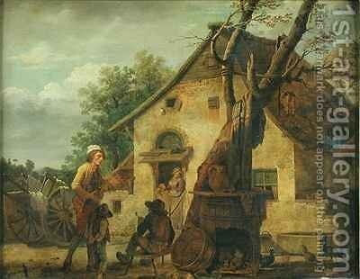 The Cottage by Martin Drolling - Reproduction Oil Painting