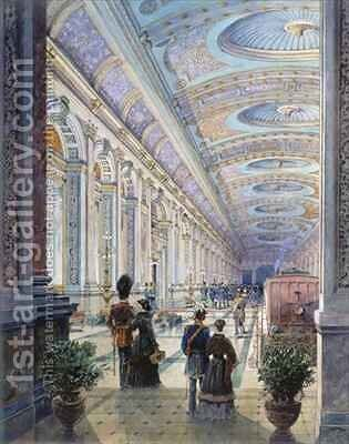 Elaborate Station Interior by Charles H. Driver - Reproduction Oil Painting
