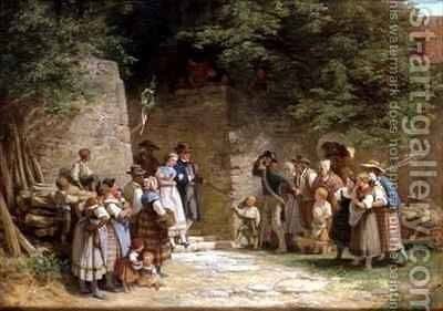 The Wedding Party by Adolf Dressler - Reproduction Oil Painting