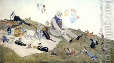 An Enchanted Picnic by Charles Altamont Doyle - Reproduction Oil Painting