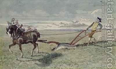 God Speed the Plough by Charles Altamont Doyle - Reproduction Oil Painting