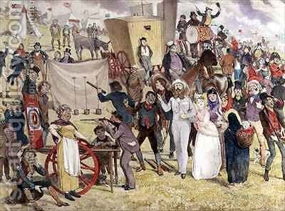 Bank Holiday or The Fun of the Fair by Charles Altamont Doyle - Reproduction Oil Painting