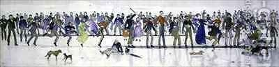 Winter Games by Charles Altamont Doyle - Reproduction Oil Painting