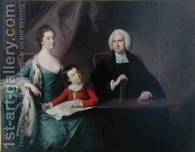 Portrait of Rev John Fountayne of Melton on the Hill his Wife Ann and their Son Thomas by Bernard Downes - Reproduction Oil Painting