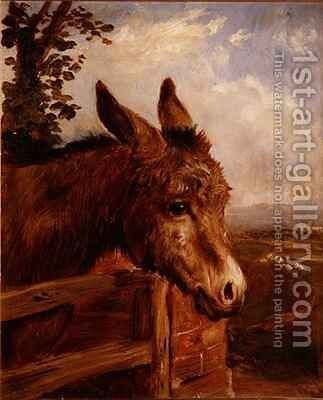 A Donkey at a Gate by Ebenezer Newman Downard - Reproduction Oil Painting
