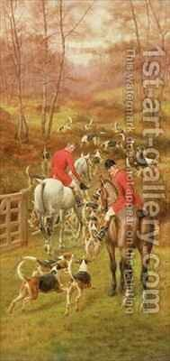 Hunting Scene by Edward Algernon Stuart Douglas - Reproduction Oil Painting