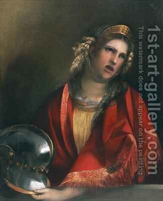 Dido crying over Aeneas by Dosso Dossi (Giovanni di Niccolo Luteri) - Reproduction Oil Painting