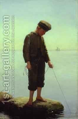The Young Fisherman by Anton Laurids Johannes Dorph - Reproduction Oil Painting