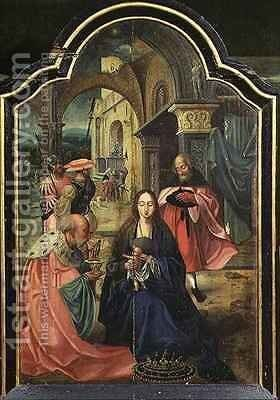 Adoration of the Kings by Jan van Dornicke - Reproduction Oil Painting