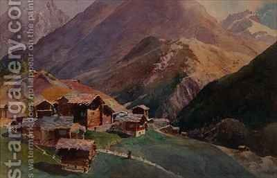 Zermatt from Platten by J.M. Donne - Reproduction Oil Painting