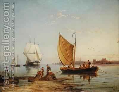 Off Overschie Holland by Cornelis Christiaan Dommelshuizen - Reproduction Oil Painting