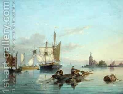 On the Isle of Texel Holland by Cornelis Christiaan Dommelshuizen - Reproduction Oil Painting