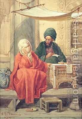 The Ottoman Scribe by Antonio de Dominici - Reproduction Oil Painting