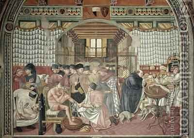 Caring for the Sick by Bartolo Domenico di - Reproduction Oil Painting