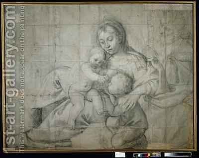 Holy Family at Rest with the Infant St John the Baptist by Domenichino (Domenico Zampieri) - Reproduction Oil Painting