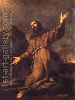 St Francis Receiving the Stigmata by Carlo Dolci - Reproduction Oil Painting