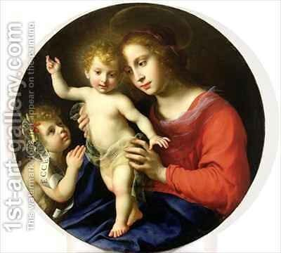 Madonna and Child with St John the Baptist by Carlo Dolci - Reproduction Oil Painting