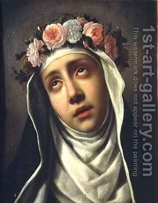 St Rose of Lima 1586-1617 by Carlo Dolci - Reproduction Oil Painting