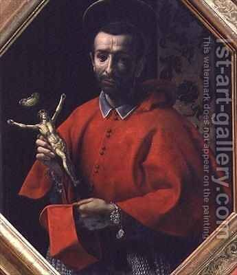 St Charles Borromeo Archbishop of Milan by Carlo Dolci - Reproduction Oil Painting