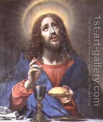 Christ Blessing Bread by Carlo Dolci - Reproduction Oil Painting