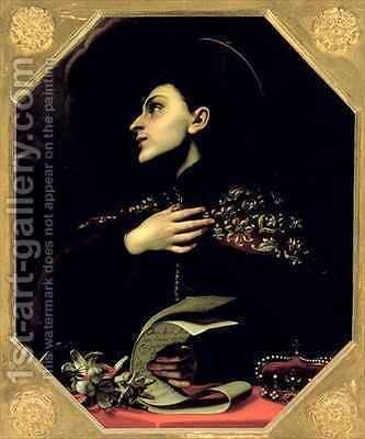 St Casimir 1458-84 by Carlo Dolci - Reproduction Oil Painting