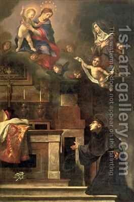 The Virgin appearing to St Louis of Toulouse by Carlo Dolci - Reproduction Oil Painting