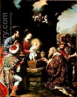 The Adoration of the Kings by Carlo Dolci - Reproduction Oil Painting