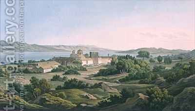 The Monastery of Phaineromene by (after) Dodwell, Edward - Reproduction Oil Painting