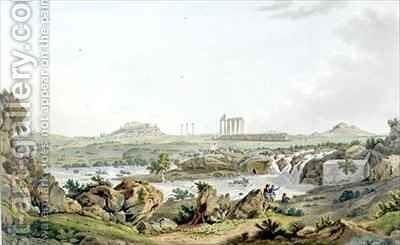 The Temple of Jupiter Olympios and River Ilissos by (after) Dodwell, Edward - Reproduction Oil Painting