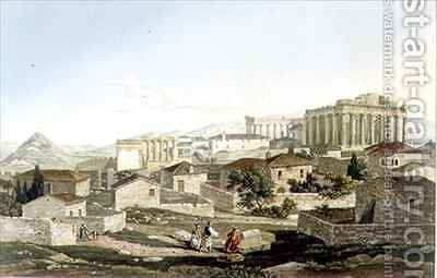 The West Front of the Parthenon by (after) Dodwell, Edward - Reproduction Oil Painting