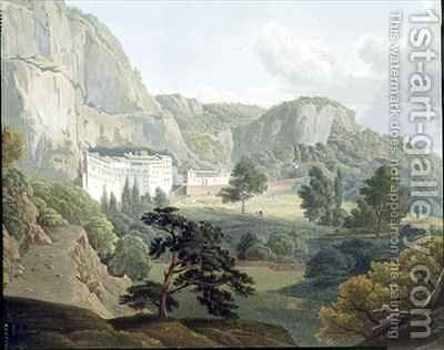 The Monastery of Megaspelia by (after) Dodwell, Edward - Reproduction Oil Painting