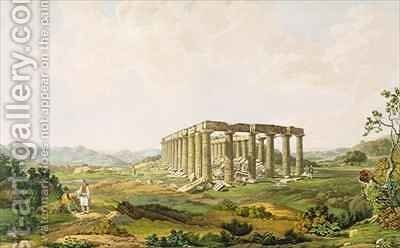 The Temple of Apollo Epicurius by (after) Dodwell, Edward - Reproduction Oil Painting